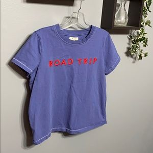 Madewell Road Trip Embroidered Tee sz M